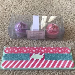 Other - Sugar Frosting Bath Fizzers/Nail File Trio